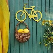 Для дома и интерьера ручной работы. Ярмарка Мастеров - ручная работа Велосипед-вешалка желтого цвета. Handmade.
