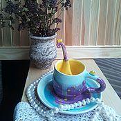Посуда ручной работы. Ярмарка Мастеров - ручная работа Чайная пара для маленьких принцесс. Handmade.