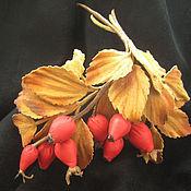 Украшения handmade. Livemaster - original item Leather flowers. Decoration brooch pin RED ROSE .. Handmade.