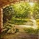Пейзаж ручной работы. Ярмарка Мастеров - ручная работа. Купить Картина маслом Заброшенный сад. Handmade. Картина маслом, зелень