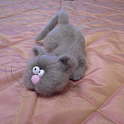 Куклы и игрушки ручной работы. Ярмарка Мастеров - ручная работа Шухер... (вязаный кот, вязаная игрушка, котик,игрушка). Handmade.