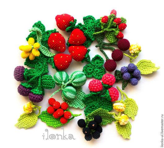 Развивающие игрушки ручной работы. Ярмарка Мастеров - ручная работа. Купить Вязаные ягодки. Handmade. Ягоды, вязаная еда, клубника
