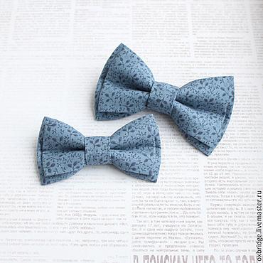 Аксессуары ручной работы. Ярмарка Мастеров - ручная работа Комплект галстуков-бабочек Папа-сын из хлопка. Handmade.