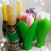 Косметика ручной работы. Ярмарка Мастеров - ручная работа Мыльный набор Шампанское и тюльпан. Handmade.