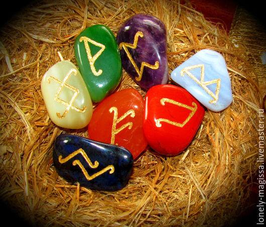 """Обереги, талисманы, амулеты ручной работы. Ярмарка Мастеров - ручная работа. Купить Рунические Чакральные камни """"7 ЧАКР"""",набор для балансировки чакр. Handmade."""