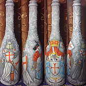 Подарки к праздникам ручной работы. Ярмарка Мастеров - ручная работа Рыцарская бутылка. Handmade.