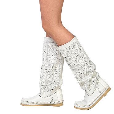 Обувь ручной работы. Ярмарка Мастеров - ручная работа Летние сапоги мокасины PIZZO/ на босую ногу /Кружевная  перфорация. Handmade.