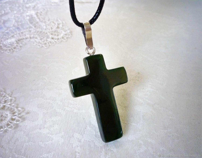 Крест из нефрита, Подвески, Иркутск, Фото №1