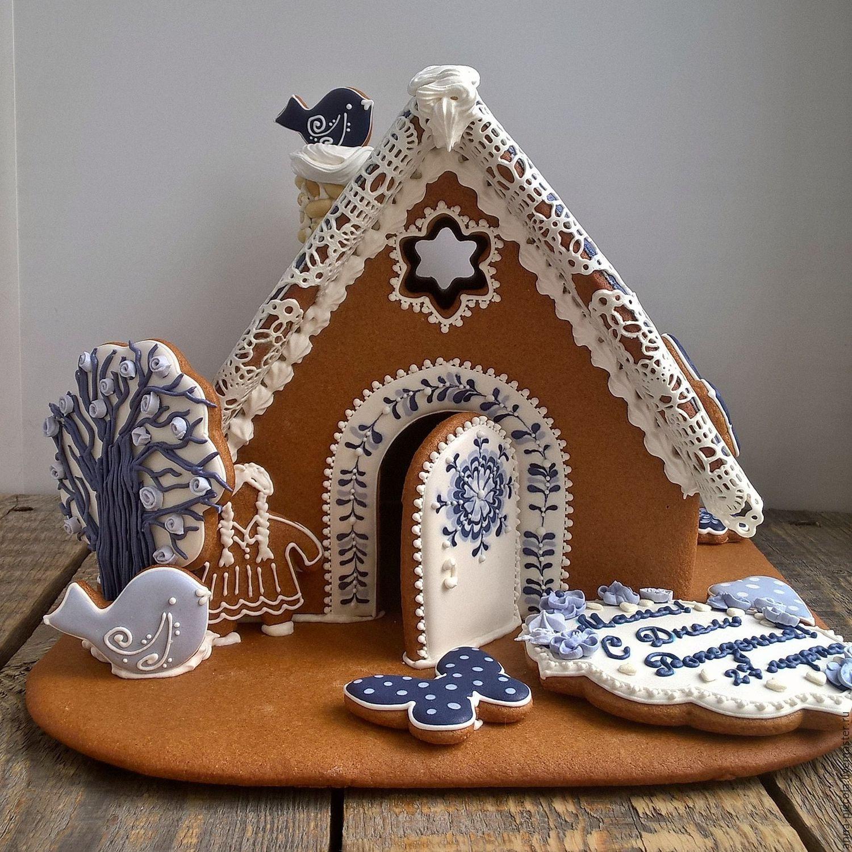 Пряничный домик рецепт с фото пошагово картинки