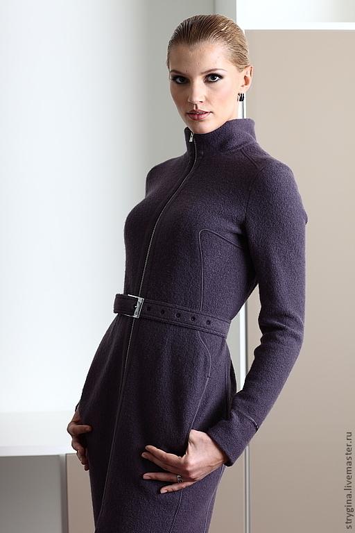 Верхняя одежда ручной работы. Ярмарка Мастеров - ручная работа. Купить Пальто IREN. Handmade. Тёмно-синий, верхняя одежда