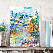Картины и панно handmade. Livemaster - original item Watercolor-pastel