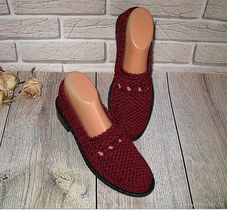Туфли женские летние вязаные, Туфли, Иваново,  Фото №1