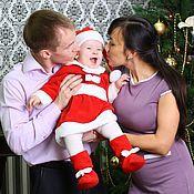 Работы для детей, ручной работы. Ярмарка Мастеров - ручная работа Карнавальный новогодний костюм Помощницы Санты для малышей и детей. Handmade.