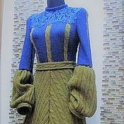 """Одежда ручной работы. Ярмарка Мастеров - ручная работа Авторское платье """"Сапфир & Дижон"""". Handmade."""