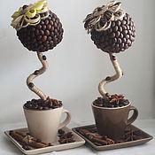 Цветы и флористика ручной работы. Ярмарка Мастеров - ручная работа Кофейный топиарий. Handmade.