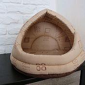 Домик для питомца ручной работы. Ярмарка Мастеров - ручная работа Домик для кошек. Handmade.