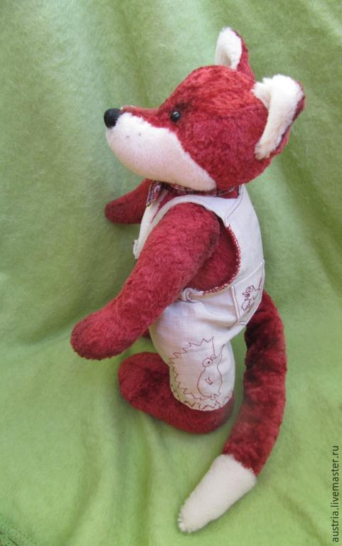 Мишки Тедди ручной работы. Ярмарка Мастеров - ручная работа. Купить Красный лис. Handmade. Бордовый, теддик, единственный экземпляр