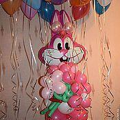 Подарки к праздникам ручной работы. Ярмарка Мастеров - ручная работа Оформление  дня рождения.Зайчик из шариков. Handmade.