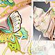 Шитье ручной работы. Ярмарка Мастеров - ручная работа. Купить Ткань натуральный шелк Бабочки Versace. Handmade. Ткань