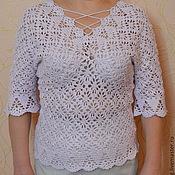 Одежда handmade. Livemaster - original item Summer blouse crochet