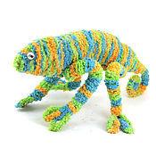 Куклы и игрушки ручной работы. Ярмарка Мастеров - ручная работа игрушка Хамелеон (зеленый, ящерица). Handmade.