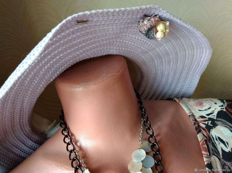 Brooch-needle Sea Shell Angaria and natural Pearls, Stick pin, Moscow,  Фото №1