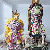 Куклы и игрушки ручной работы. Ярмарка Мастеров - ручная работа Принцессы бывают разные, но все с улыбкой Моны Лизы ;) кукла. Handmade.
