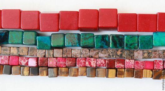 Для украшений ручной работы. Ярмарка Мастеров - ручная работа. Купить Бусины-кубики. Handmade. Варисцит, для украшений, кубики, хризоколла