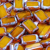 Материалы для творчества handmade. Livemaster - original item Bead of Czech glass art.11-3, color - light yellow opal. Handmade.