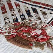 """Для дома и интерьера ручной работы. Ярмарка Мастеров - ручная работа Подушка """"Картина, корзина...."""". Handmade."""