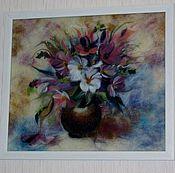 Картины и панно ручной работы. Ярмарка Мастеров - ручная работа Букет цветов. Handmade.