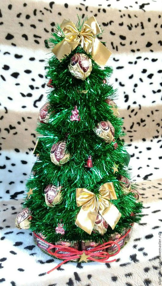 Новый год 2017 ручной работы. Ярмарка Мастеров - ручная работа. Купить Новогодняя елка с конфетами. Handmade. Зеленый, елка