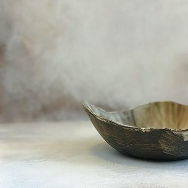Посуда ручной работы. Ярмарка Мастеров - ручная работа Салатник «black&white». Handmade.