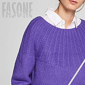 Одежда handmade. Livemaster - original item Women`s sweater purple Lilac Womens sweater purple. Handmade.