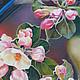 Животные ручной работы. Цвет и бутоны - Авторская картина маслом на холсте. Cоюз художников. Ярмарка Мастеров. Птица на ветке
