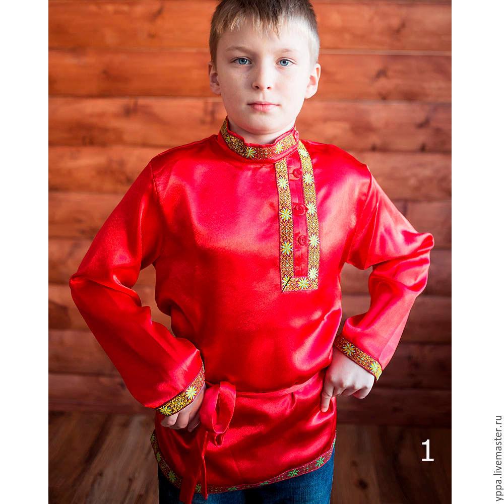 "Косоворотка атлас ""Дмитрий"", Народные рубахи, Королев, Фото №1"
