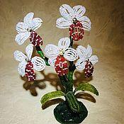 Цветы ручной работы. Ярмарка Мастеров - ручная работа Цветы из бисера. Handmade.