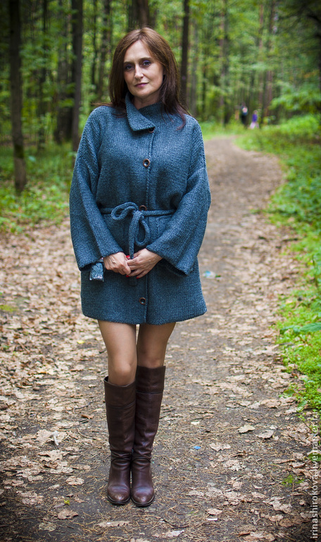 Верхняя одежда ручной работы. Ярмарка Мастеров - ручная работа. Купить пальто из шерсти ручной работы Сакура. Handmade.