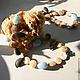Колье, бусы ручной работы. Заказать Пляж колье с аквамаринами. Наталья Галкина (bijou2you). Ярмарка Мастеров. Колье с перламутром