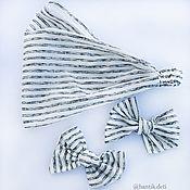 Диадемы ручной работы. Ярмарка Мастеров - ручная работа Полосатый, бантики полосатые, заколки для волос, косынка. Handmade.