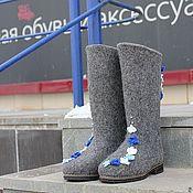 """Обувь ручной работы. Ярмарка Мастеров - ручная работа Валенки женские """"Первоцвет"""". Handmade."""