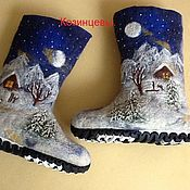 """Обувь ручной работы. Ярмарка Мастеров - ручная работа Валенки """"Зимний пейзаж"""". Handmade."""