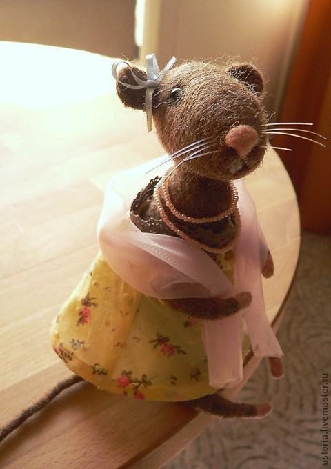 Игрушки животные, ручной работы. Ярмарка Мастеров - ручная работа. Купить Мышка Зоя. Handmade. Мышка, настроение, мышки