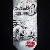 """Галстуки ручной работы. Ярмарка Мастеров - ручная работа Галстук """"Ретро автомобили"""". Handmade."""