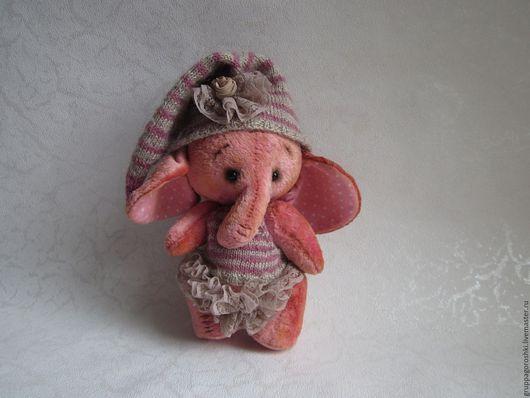 Мишки Тедди ручной работы. Ярмарка Мастеров - ручная работа. Купить Слоник Тедди Пепельная Роза. Розовый Слон. Плюшевая игрушка. Handmade.