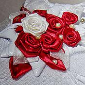 """Свадебный салон ручной работы. Ярмарка Мастеров - ручная работа Свадебная шляпка """"Розы на снегу"""". Handmade."""