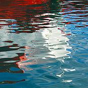 Картины и панно handmade. Livemaster - original item Sea photo abstract painting for interior, the reflection of the ship. Handmade.