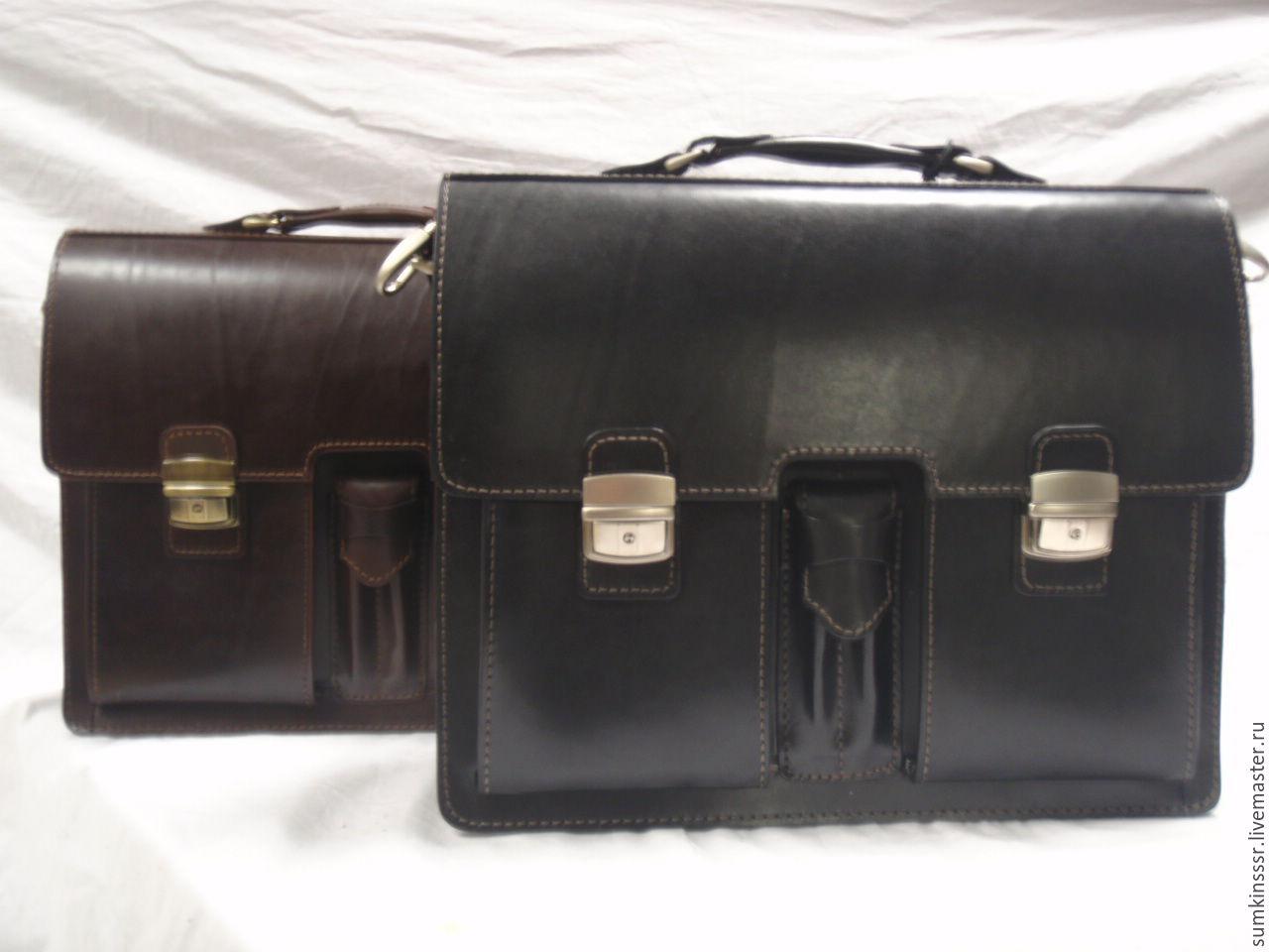 eac8082b4f5b Мужские сумки ручной работы. Ярмарка Мастеров - ручная работа. Купить  Кожаный мужской портфель ручной ...