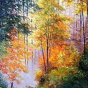 Картины и панно handmade. Livemaster - original item Oil painting Toman Osenneye Chernov. Handmade.