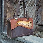 Классическая сумка ручной работы. Ярмарка Мастеров - ручная работа Сумка кожаная женская коричневая большая повседневная  Весенняя. Handmade.
